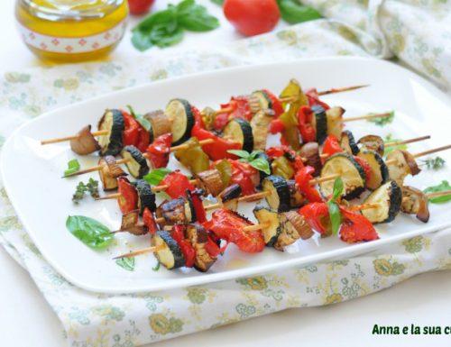 Spiedini di verdure semplici al forno