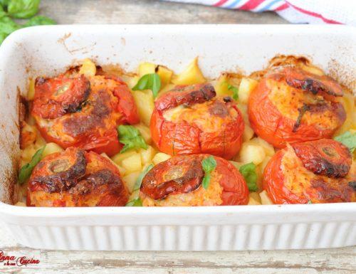 Pomodori dell'orto ripieni di riso basmati