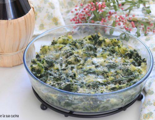 Pasticcio di spinaci e patate