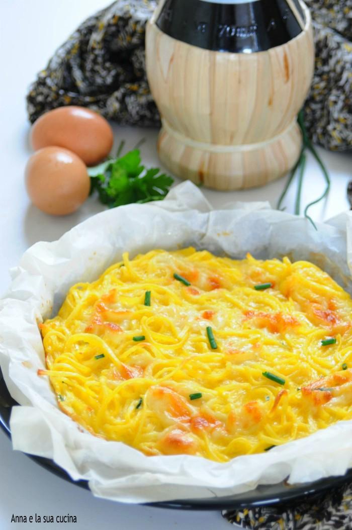 Frittata di tagliolini freschi all'uovo