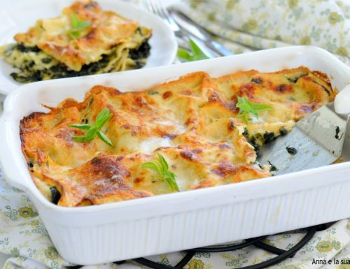 Lasagne bianche con spinaci e besciamella