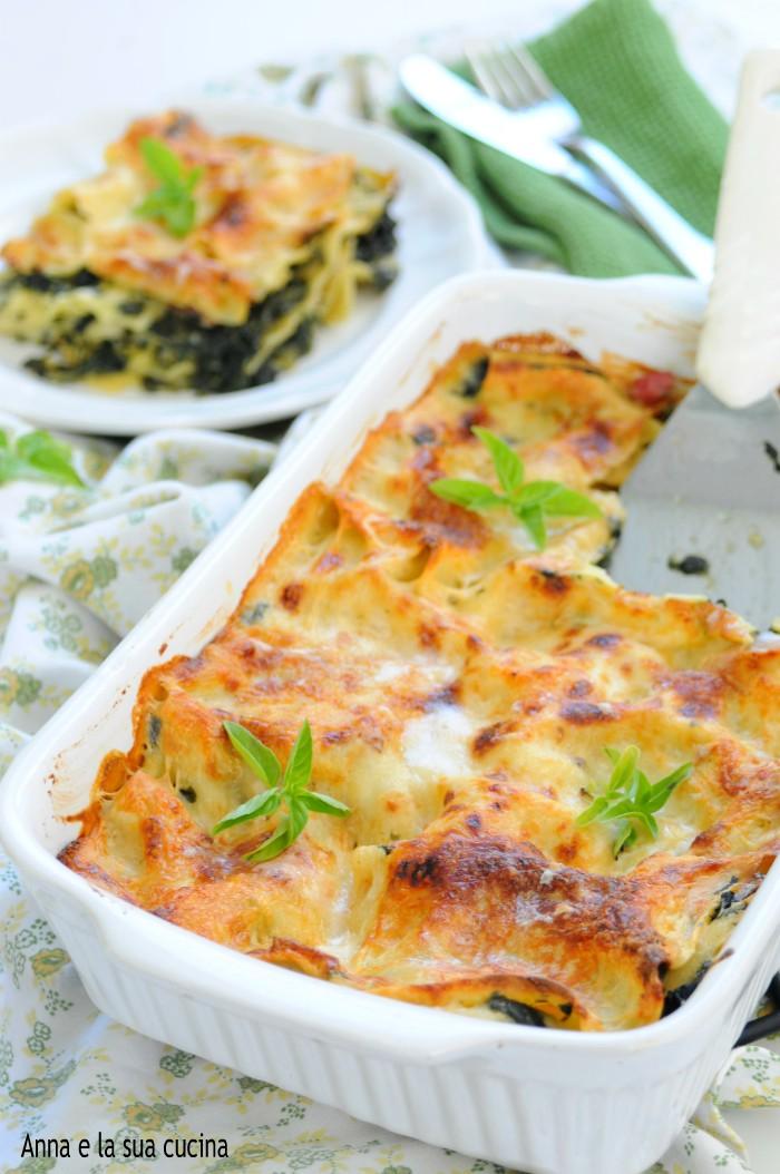 Ricetta Lasagne E Spinaci.Lasagne Bianche Con Spinaci E Besciamella Anna E La Sua Cucina