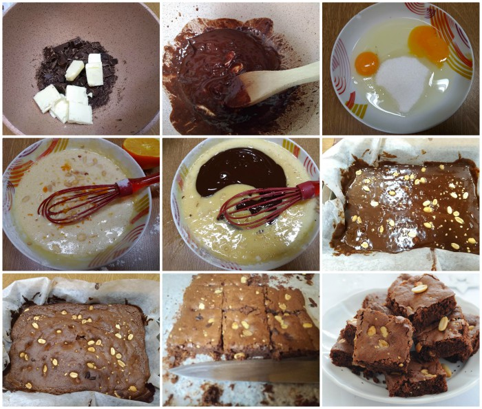Brownies con arachidi tostate e salate