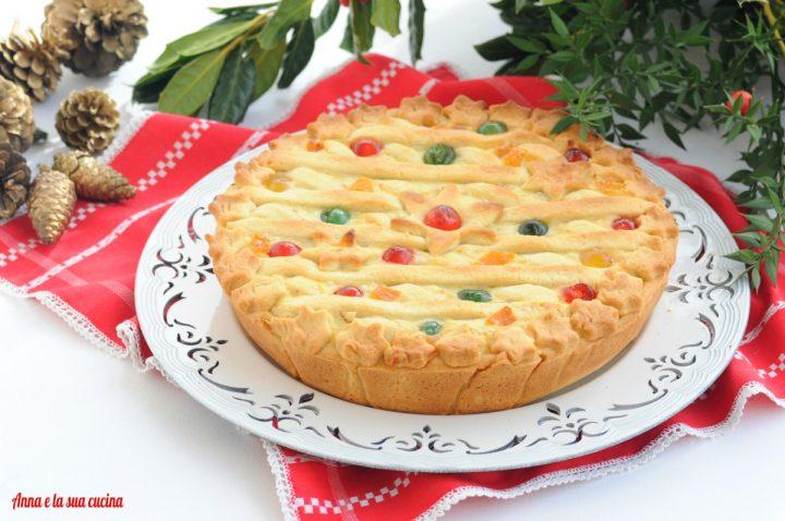 Pastiera natalizia con canditi misti