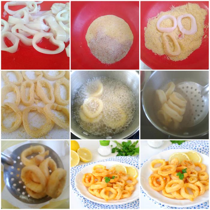 Calamari fritti con panatura semplice