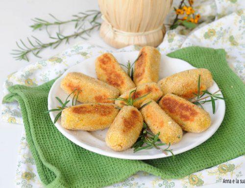 Crocchette con purè di fave secche