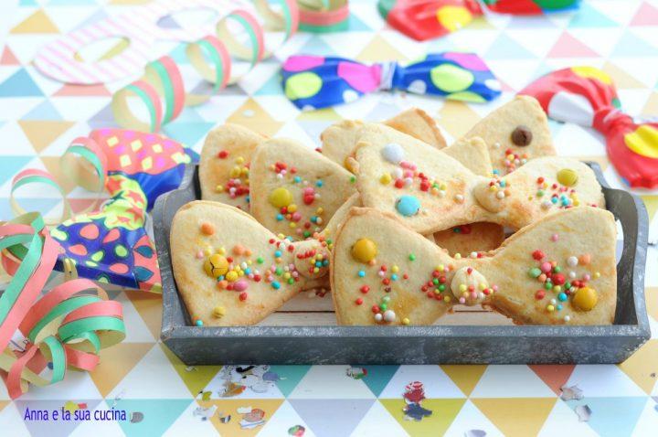 Papillon biscotti di carnevale