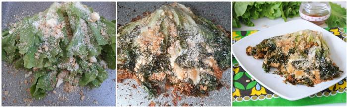 Radicchio verde farcito gratinato al forno