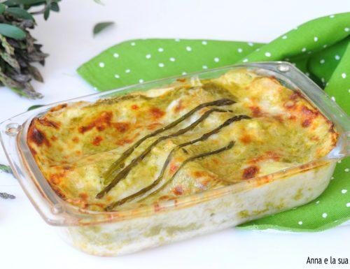 Lasagne ricce cremose con asparagi e capocollo