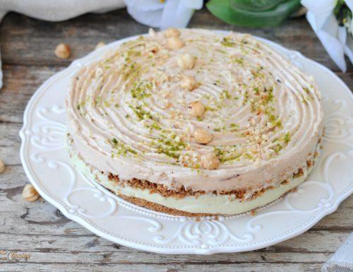 Torta fredda con pistacchio e pasta nocciole