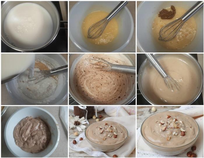 Crema pasticcera con pasta di nocciole