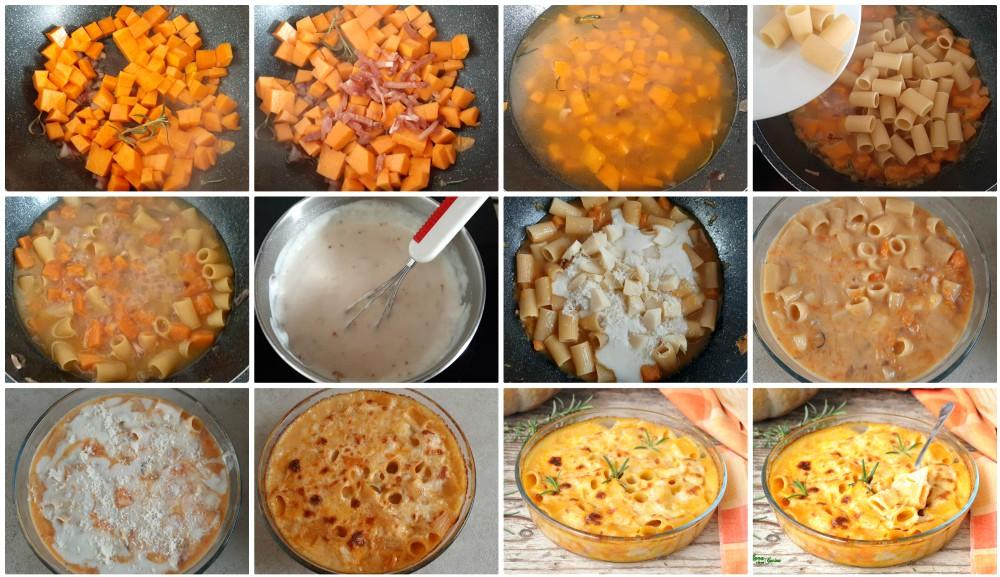 per la pasta al forno con zucca e besciamella