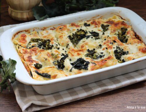 Lasagne bianche con broccoli e scamorza