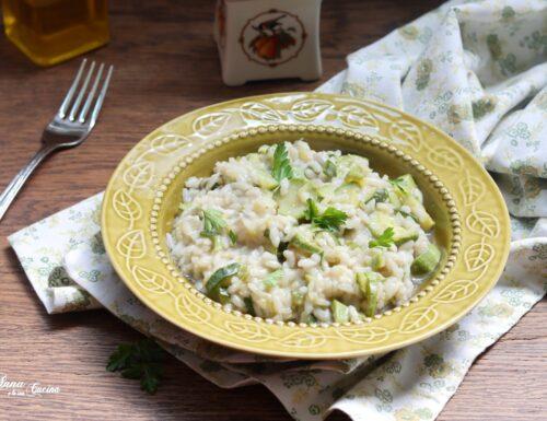 Risotto con zucchine e cipollotto fresco