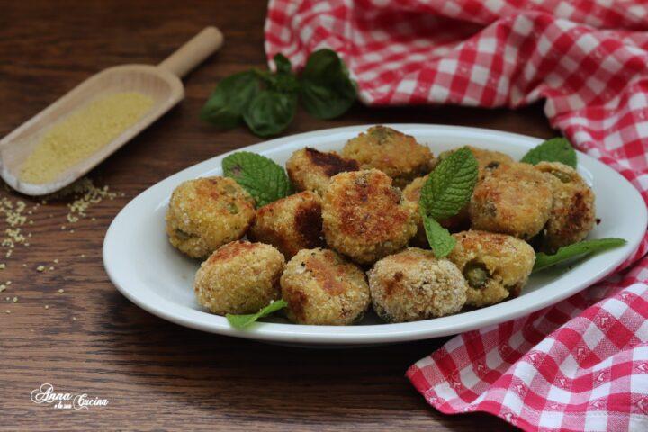 Polpette di cous cous con verdure al forno