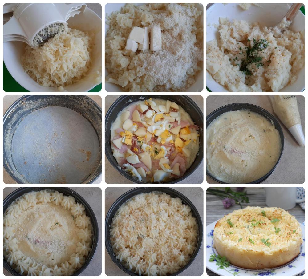 Torta di patate farcita