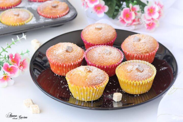 Muffin al profumo di cocco e yogurt