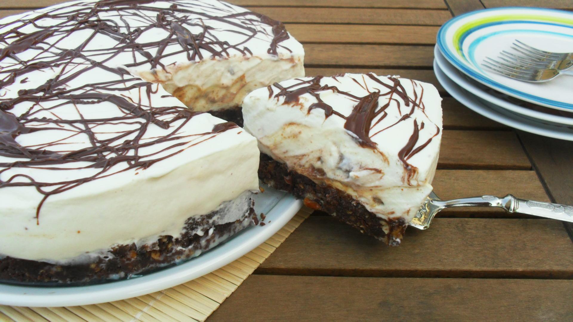 Eccezionale torta snickers (golosissima,senza forno) IU47