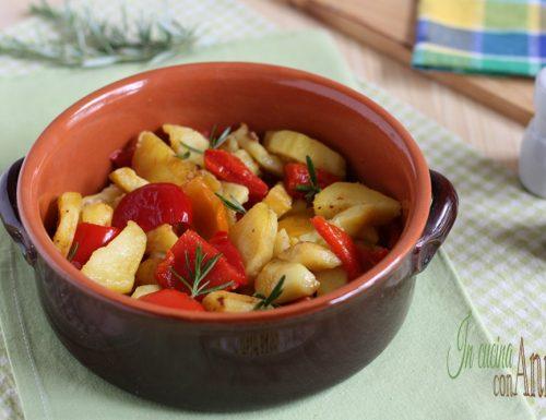 terrina di patate e peperoni al forno