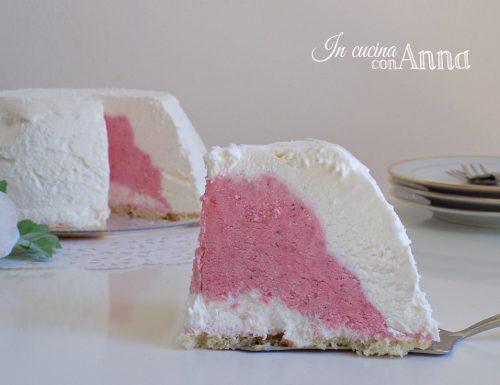tartufo bianco con cuore alle fragole (gelato senza gelatiera)