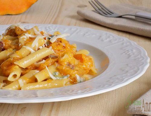 pasta con crema di zucca e gorgonzola