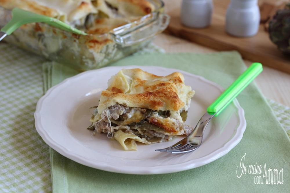 Lasagna ai Carciofi e Salsiccia
