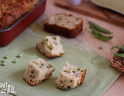 plumcake salato piselli e pancetta