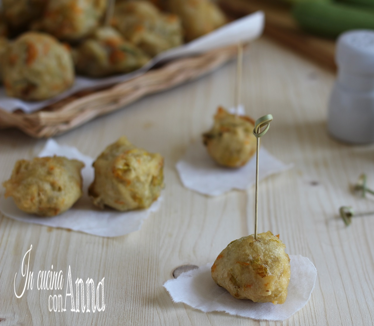 frittelle di zucchine e vongole