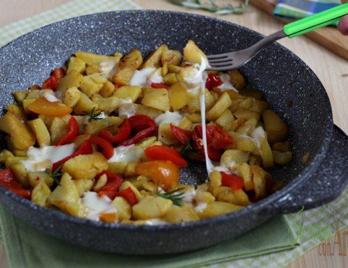 patate e peperoni filanti