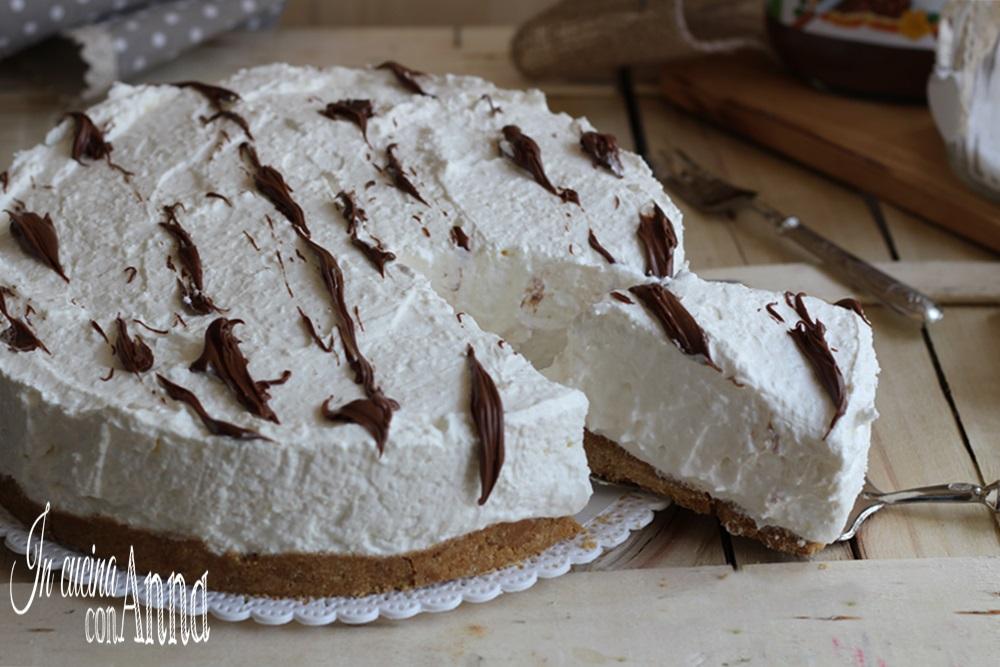 cheesecake al cocco e cioccolato (senza cottura)