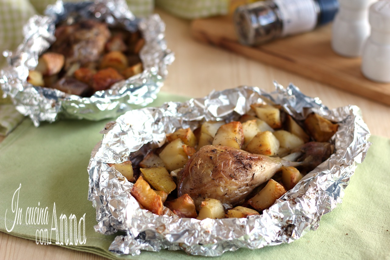 Pollo e patate al cartoccio