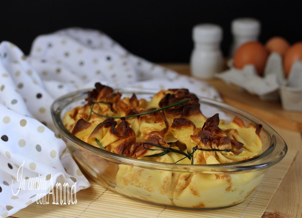 Fagottini zucchine e gamberetti.