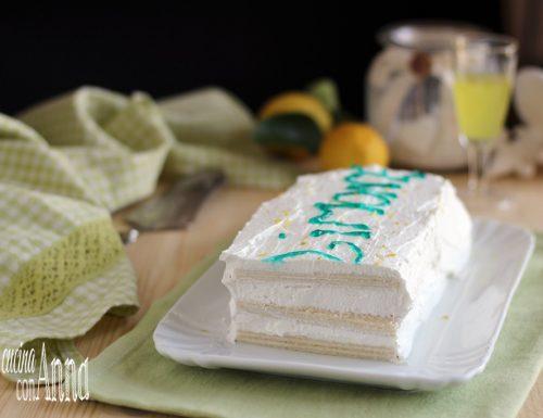 Torta di wafer al limone