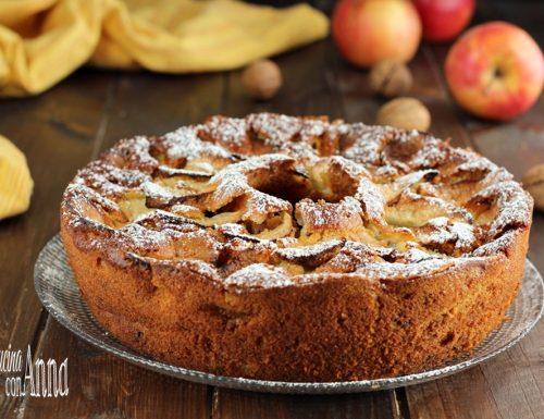 Torta di mele,ricotta e noci