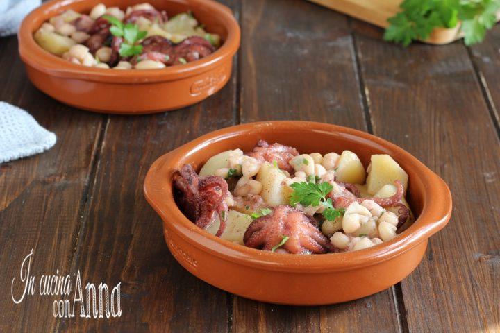 Polipetti con patate e fagioli