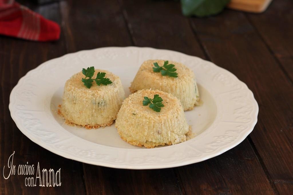 Tortini salati con cuore cremoso