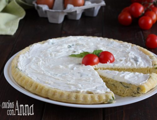 Crostata salata al basilico