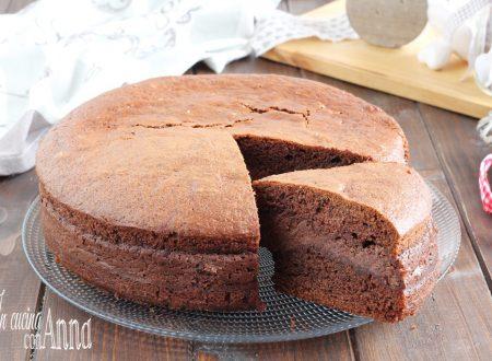 Torta versata ricotta e cioccolato