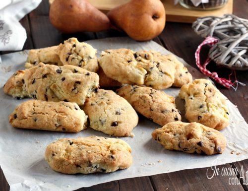 Biscottoni pere e cioccolato