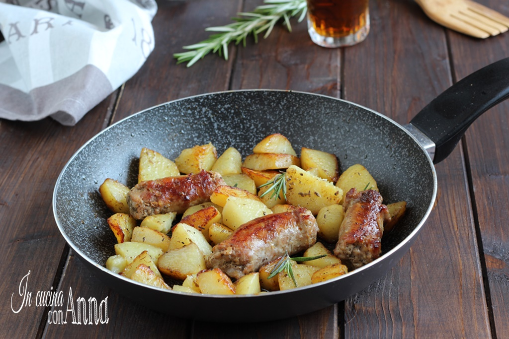 Salsiccia e patate alla birra
