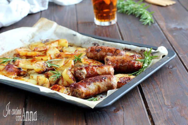 Salsiccia e patate alla salsa barbecue