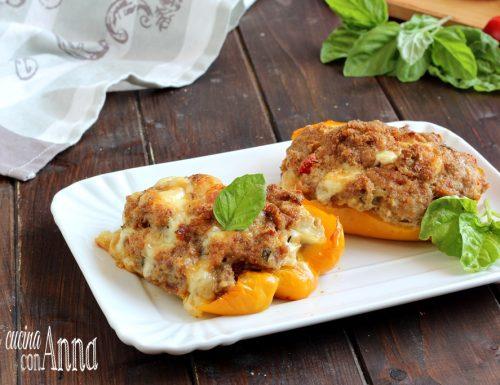 Peperoni ripieni al forno con carne
