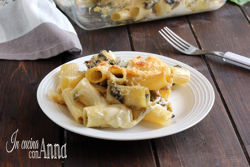 Pasta al forno melanzane, gorgonzola e speck