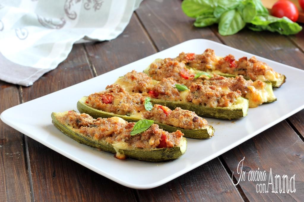 Zucchine ripiene con carne