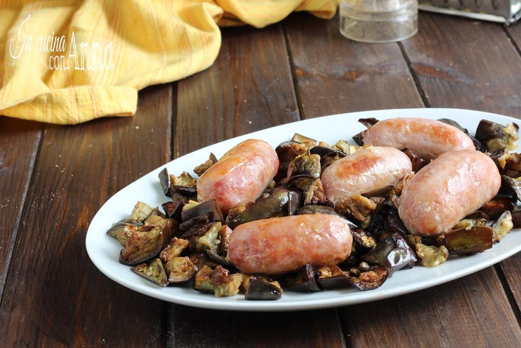 Salsiccia e Melanzane in Padella