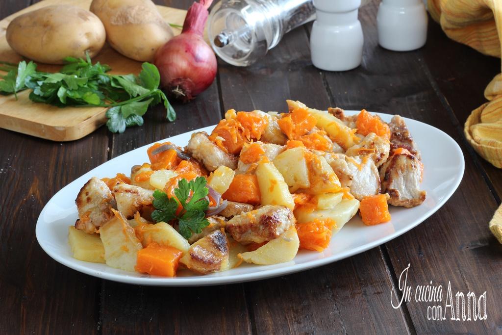 Bocconcini di carne zucca e patate