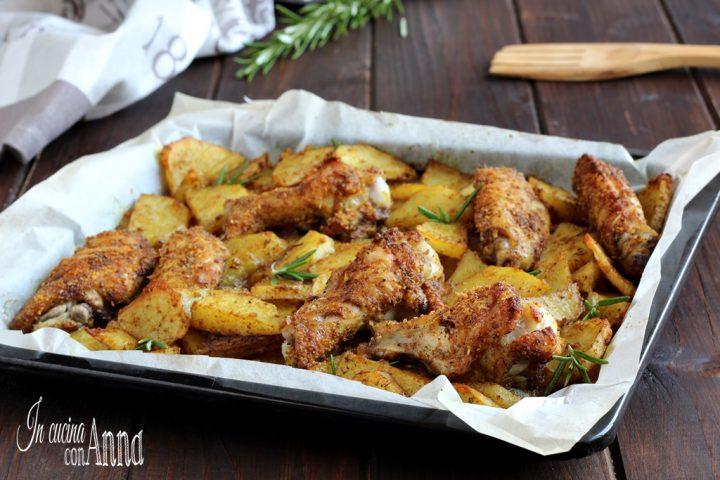 Pollo e patate gratinato