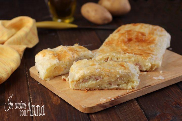 Rotolo con patate e prosciutto
