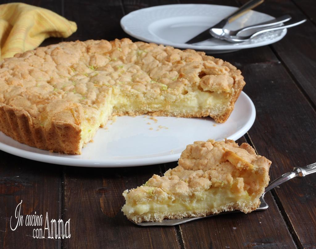 Crostata morbida crema, mascarpone e cioccolato bianco