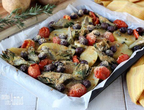 Patate e carciofi gratinati alla Siciliana